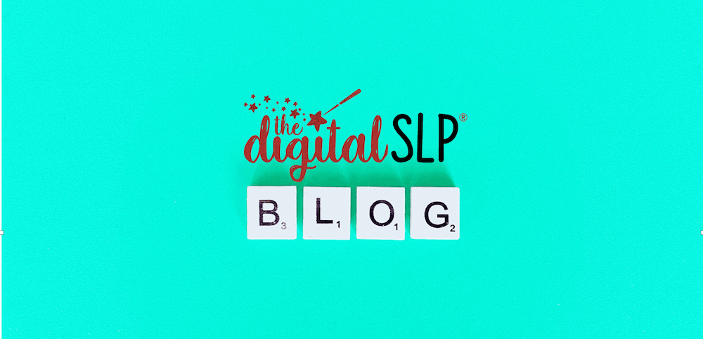 Blog with The Digital SLP logo