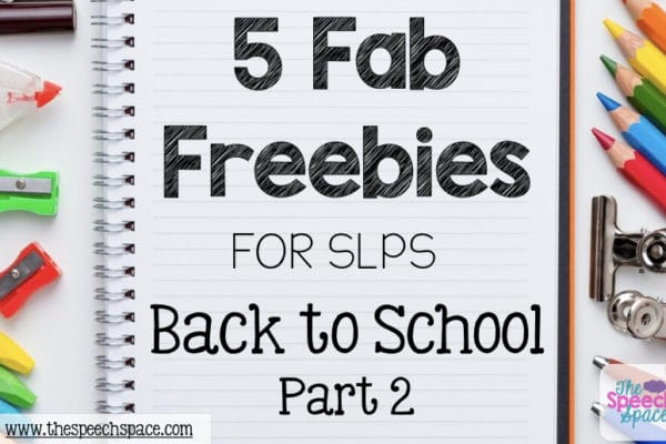 back to school freebies for SLPs