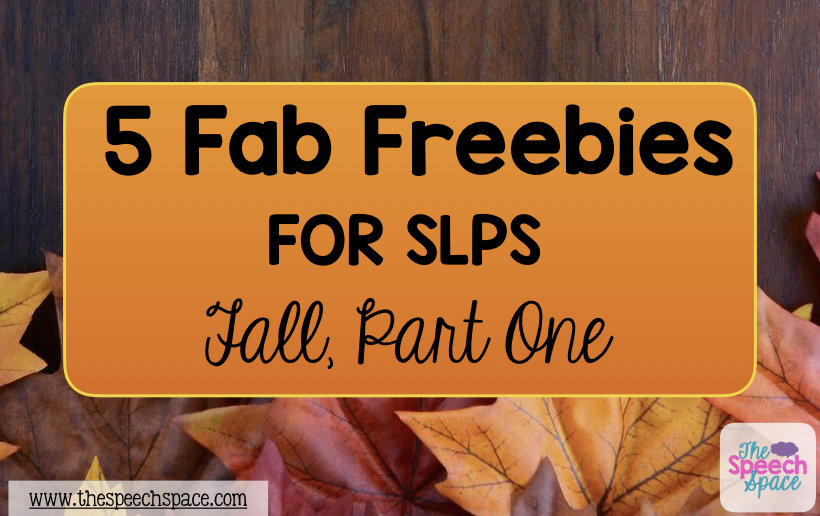 free Fall activities for SLPs