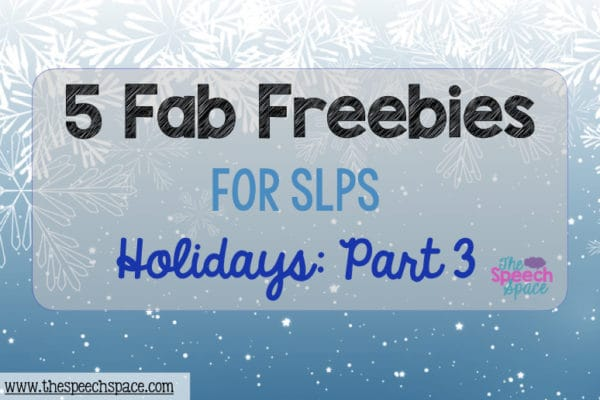 Five Fab Freebies: Holidays, Part 3
