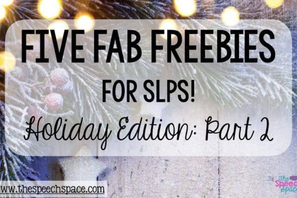 free holiday materials for SLPs
