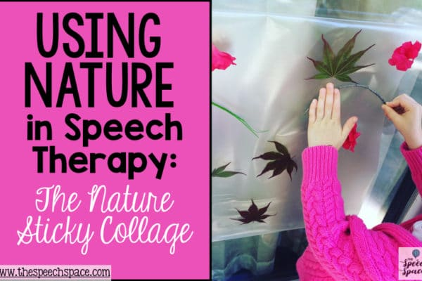Nature in Speech Therapy: The Nature Sticky Collage