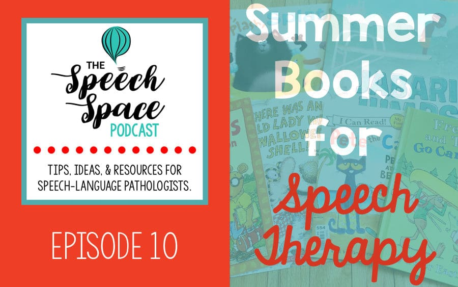 summer books for speech therapy