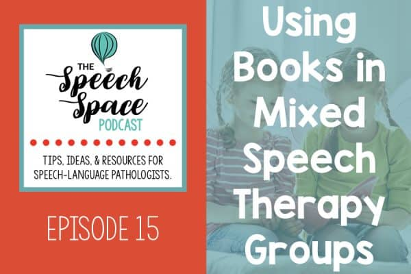 Using books in mixed speech therapy groups