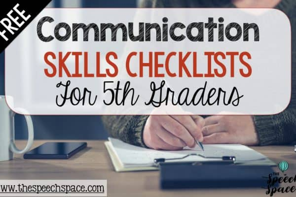 Communication Checklist for 5th Grade
