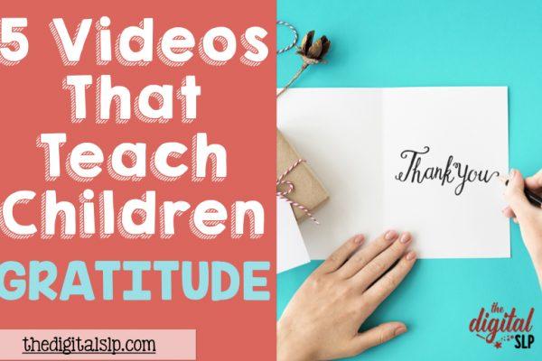 5 Videos That Teach Children Gratitude