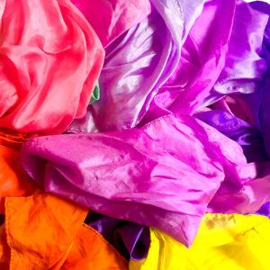 Colorful Silk Scarves For SLP Activity  thedigitalslp.com