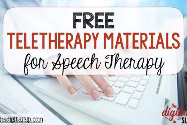 FREE Speech Therapy Activities for Teletherapy