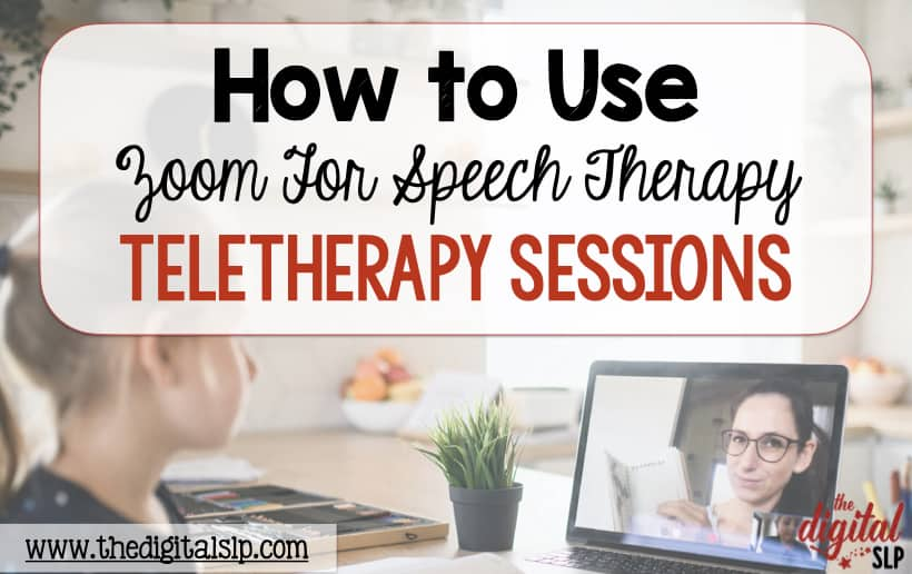 using zoom for speech therapy