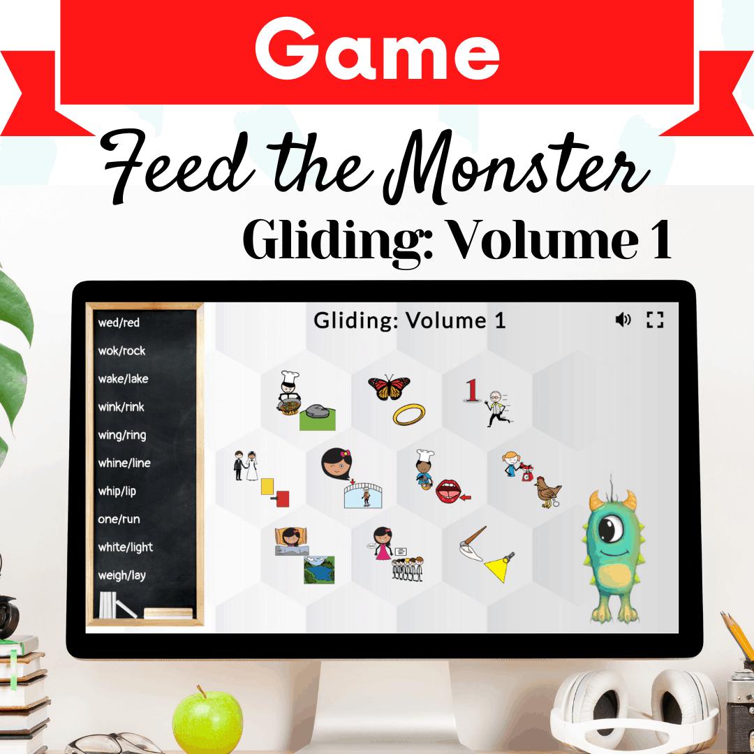 Feed The Monster Game Gliding Volume 1 The Digital SLP thedigitalslp.com