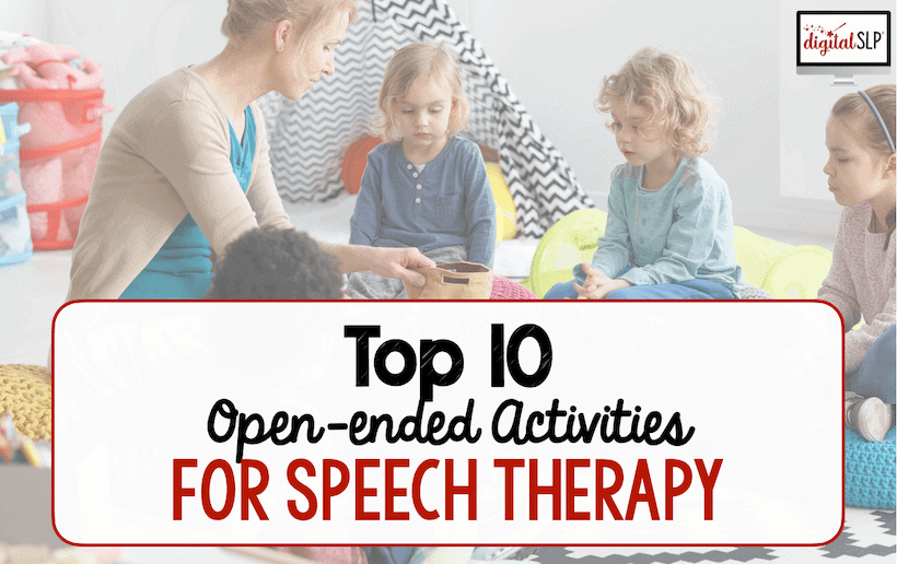 open-ended activities for speech therapy