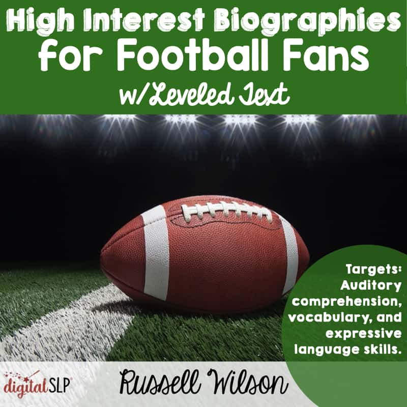 High Interest Football Bios Russell Wilson The Digital SLP thedigitalslp.com